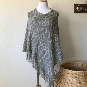 Sweaters - Gray and cream Shawl-coming soon!